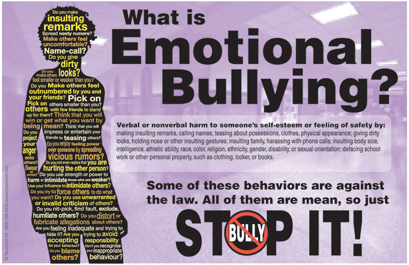 Fabuleux Stop It! Bully Prevention Posters for Schools AP27