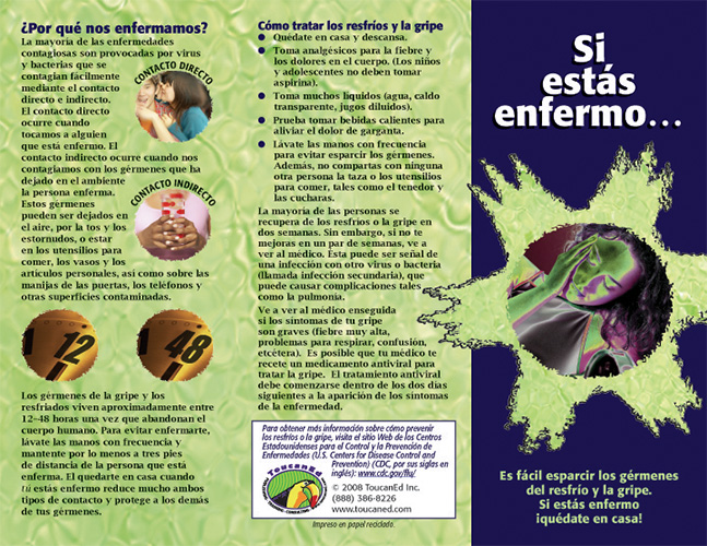 health education pamphlets for infection control  disease