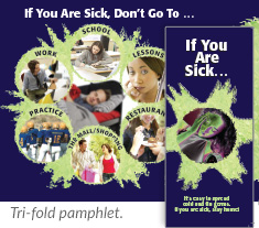 If You Are Sick... tri-fold pamphlet