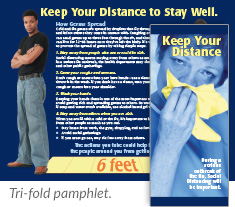 Keep Your Distance tri-fold pamphlet
