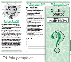 Quitting Tobacco: Are You Really Ready? tri-fold pamphlet