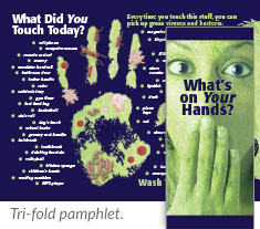 What's on Your Hands? tri-fold pamphlet