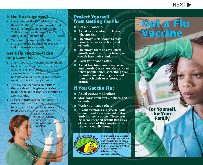 Infection Control Disease Prevention And Mrsa Pamphlet