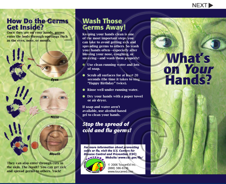 Infection Control Disease Prevention and MRSA Pamphlet Series – Pamphlet Sample