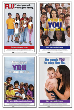 Flu Vaccination Educational Posters