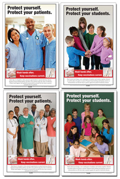 Infection Control Posters for Schools and Hospitals