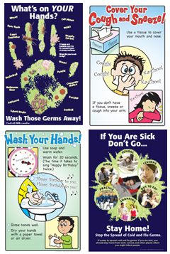 Infection Control Posters for Teens and Children
