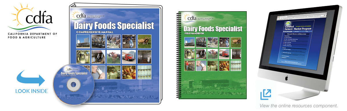 California Department of Food and Agriculture (CDFA) Dairy Foods Comprehensive Manual
