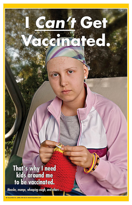 i can u2019 get vaccinated promotional vaccination rack card