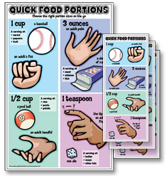 The Quick Food Portions Poster and Rack Card Kits
