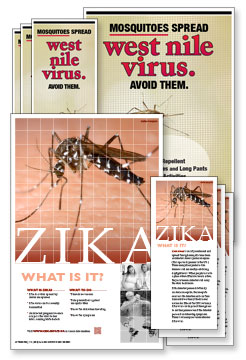 West Nile Mosquito Rack Card and Poster Kits