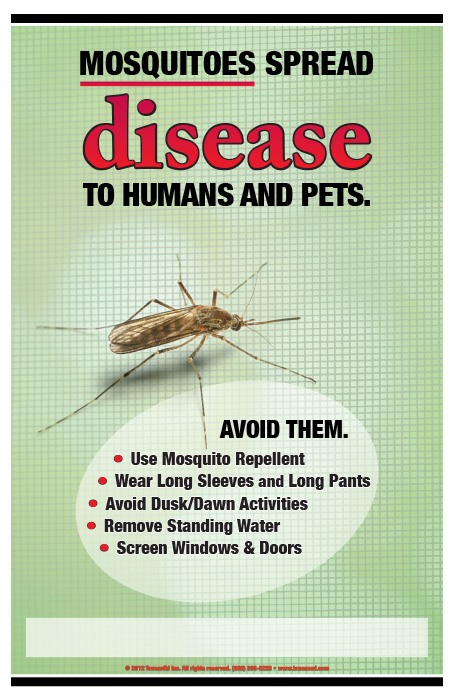 zika  mosquitoes spread disease rack card and poster kits