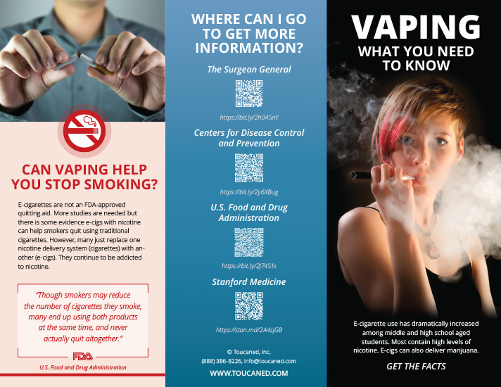 Vaping (e-Cigarette) Facts, Prevention Posters and Kits